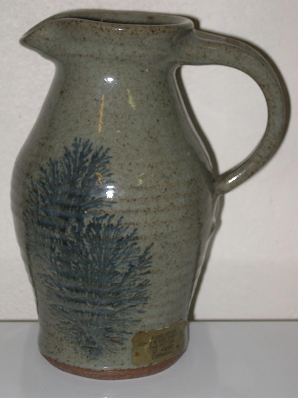 Tobacco spit jug by John and Sue Sneddon