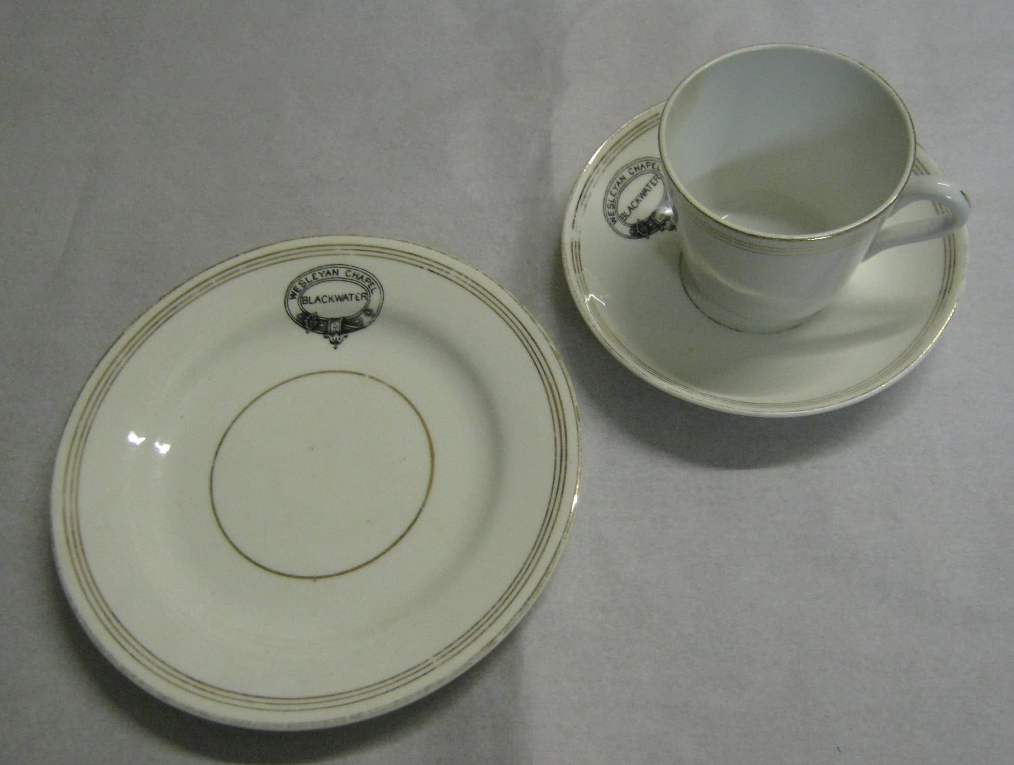 Crested china from Blackwater Methodist Church