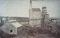 Postcard of Wheal Friendly Mine by Sammy Solway