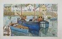 Cornish harbour by Nancy Lanyon Homer