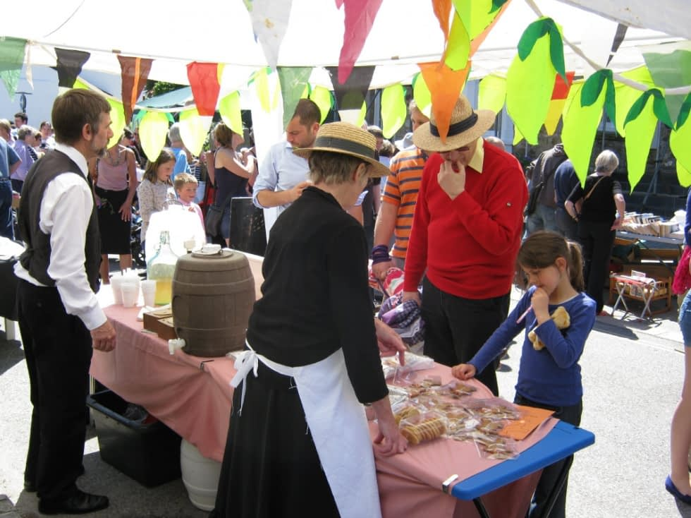Choosing what to buy at the Victorian Fayre