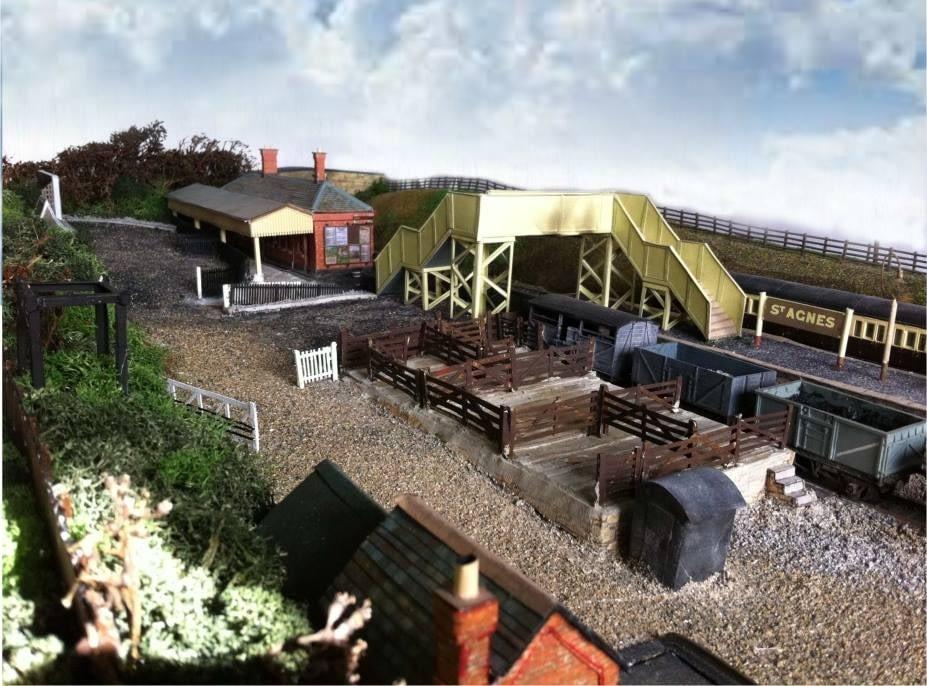 The 00-gauge model of St Agnes Station